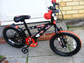 "BOYS 16"" WHEEL BIKE IN GREAT WORKING ORDER AGE 4-6"