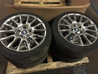 "BMW E90 3 SERIES 18"" MOTOR SPORT ALLOY WHEELS FULL SET WITH TYRES FOR SALE CALL TODAY!"