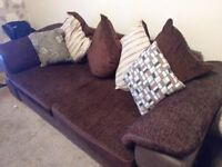 Large 3 seater sofa and 2 seater swivel cuddler chair