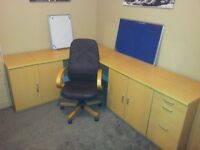 Complete home office furniture set