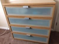 IKEA HOPEN Chest of Drawers (4 Drawer)