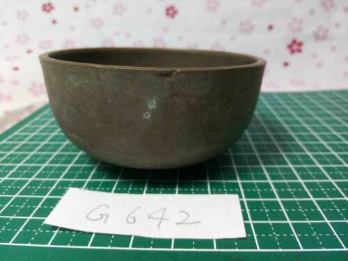 """3.012"""" Japanese Vintage Buddhist Bell Gong Rin G642 Not so good Tone"""