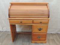 Solid wooden desk with rolltop (Delivery)