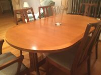 Solid teak wood table and chairs
