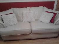 Large cream sofa & large chair