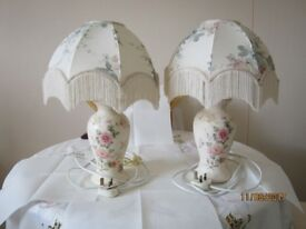 Two table top lamps. Use in lounge or bedroom. Matching pair.