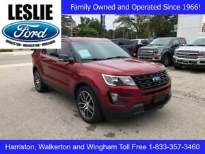 2016 Ford Explorer Sport | 4WD | Accident Free | Rear DVD System