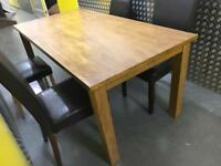 Solid dining table + 4 chairs •free delivery