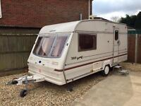 Bailey Pageant Magenta 2 berth complete with motor mover in excellent condition