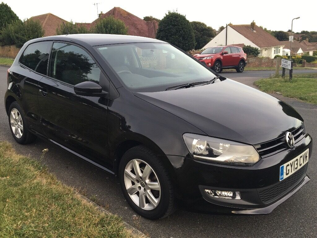 2013 vw polo match edition 1 2 black 3dr in brighton east sussex gumtree. Black Bedroom Furniture Sets. Home Design Ideas