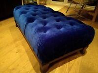 Velvet Royal blue Ottoman