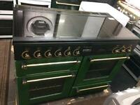 Green rang master 110cm gas cooker grill & double oven good condition with guarantee bargain