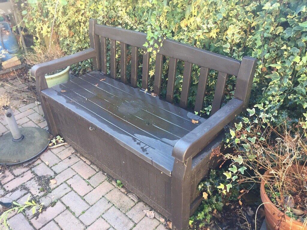 Grey Keter Madison Wood Effect Storage Bench