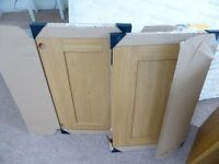 TWO BRAND NEW AND BOXED PLUMBASE GEORGIA BLONDE OAK DOORS