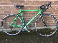 Orxy Hand built Road Bike Carbon Forks Shimano 105 Group Set Fightdeck Metallic Green