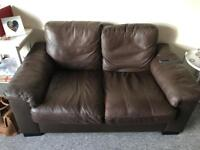 2 brown leather sofas (Free)