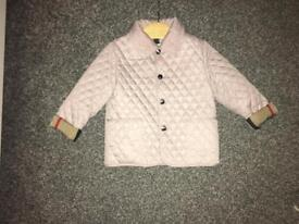 Baby quilted Burberry Coat 18months