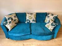 3 seater Sofa, Swivel armchair and Pouffe