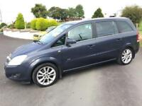 VAUXHALL ZAFIRA 1.9 CDTI 150 DESIGN 2008 ***MOT FEBRUARY 2018*** HALF LEATHER SEATS***