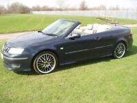 (CONVERTIBLE) SAAB 9-3 AERO 2.0 TURBO FULL LEATHER ALLOYS LONG MOT 2005 05 BARGAIN £995 NO OFFERS