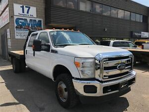 2013 Ford F-350 XLT Crew Cab Dually Flat Deck Bed DRW 4X4 Gas