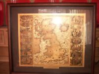 3 Dufex-printed reproduction maps