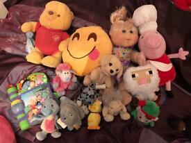 Bundle soft toys tatty teds Winnie the Pooh cabbage patch doll minecraft FREE