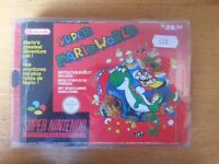 SNES Super Nintendo Super Mario World Boxed complete with instructions & protector