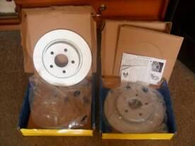 Set of rear 265 mm brake discs