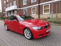 BMW 335D M SPORT E90 KARMAZIN RED ! REMMAP TO 400BHP 743TORQUE HPI CLEAR SAT NAV LETHER BLACK M/////
