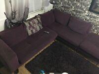 Used 6 seater corner sofa great condition bargain- must go !