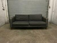 FREE DELIVERY IKEA KARLSTAD GREY FABRIC 3 SEATER SOFA