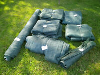 HORTICULTURAL MESH, GREEN, FOR CROP PROTECTION/SHADING/WIND BREAK/FRUIT CAGE ETC, NEW AND USED
