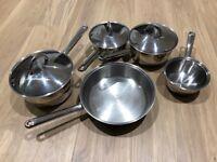 Copper Bottom 5 Piece Pan Set