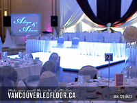 LED Dance Floor Rental Vancouver and surrounding