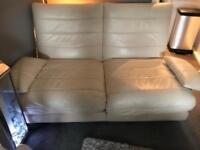 2 x cream 2 seater sofas £80