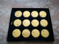 RAF Collection Gold coins - 17 medals *in a collection box*