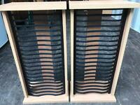 Pair of DVD storage racks FREE DELIVERY PLYMOUTH AREA