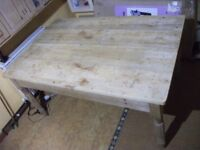 antique vintage kitchen table pine stripped brushed classic large dining
