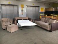 DFS sofa bed set + foot stool storage•free delivery