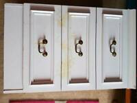White bedside drawers