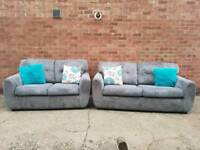 DFS Charcoal Grey Sofas
