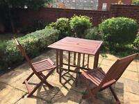 Folding Garden Table and 4 Chairs Set