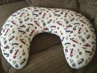 Feeding Pillow with Owl cover (washable cover)