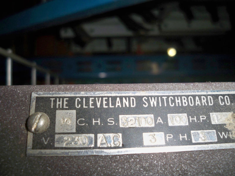 Cleveland Switchboard Chs32100 100a Fused Panel Switch