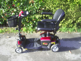 PRIDE APEX RAPIDE SPORT mobility scooter with full suspension, lovely condition