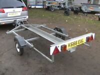 GALVANISED SINGLE MOTORCYCLE TRANSPORTER TRAILER.............