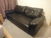 Three seater and two seater sofa. £100 for both. Some damage to front,can be seen in picture.
