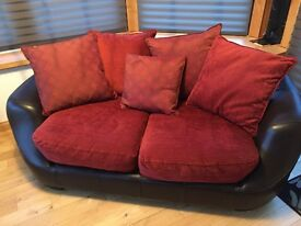 Four Piece Leather & Pillow Back Suite- EXCELLENT CONDITION! -Sirocco by DFS- Availabel IMMEDIATELY!