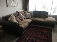 Corner Sofa -Osbourne Half Leather -Cost £1500 New